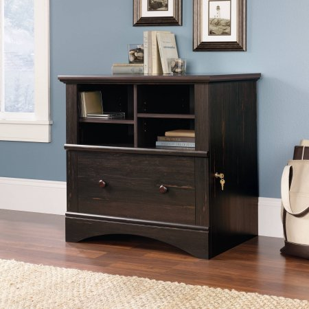 Sauder Harbor View Lateral File Cabinet, Antiqued Paint (1)