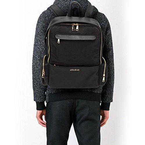 LeahWard Damen Unisex Qualität Rucksack Taschen 599 (Grau) Schwarzer Rucksack a0wraqOw1