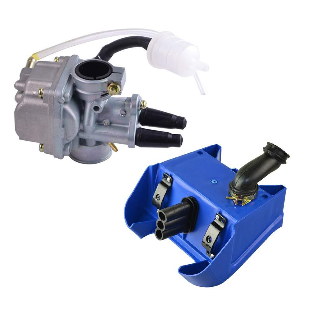 FLYPIG Carburetor Air Filter Box Assembly for Yamaha PW80 PEEWEE 80