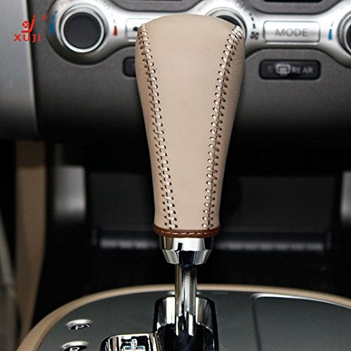 2009 2010 2011 2012 2013 2014 Acura TL Black Genuine Leather Gear Shift Knob Cover for 2009-2014 Acura TSX 2013-2017 Acura ILX Automotic 2010-2012 Acura ZDX 2013 2014 2015 2016 2017 Acura RDX