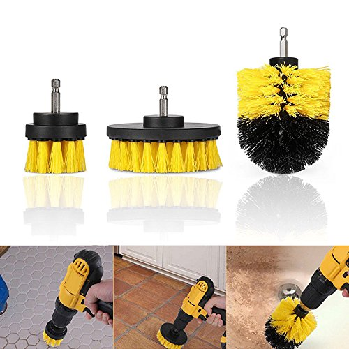 Cheap Leoie Tile Grout Power Scrubber Cleaning Brushes Cleaner Set For Electric Drills 3Pcs/set