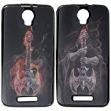 DMG Premium 3D TPU Protective Back Cover Case for Micromax Canvas Juice 2 AQ5001 (Skull New)