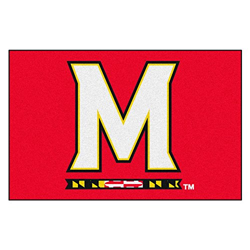 FANMATS NCAA University of Maryland Terrapins Nylon Face Starter Rug