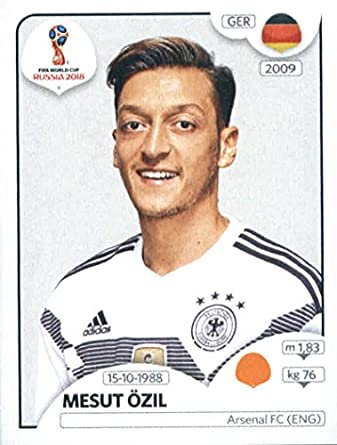 ee3748363 2018 Panini World Cup Stickers Russia #447 Mesut Ozil Germany Soccer Sticker