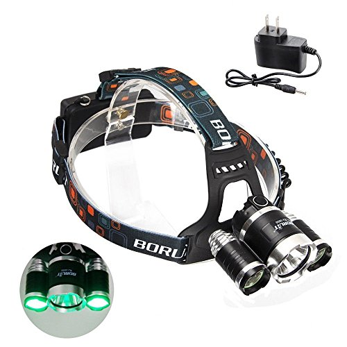 BESTSUN Headlamp with Green Light, Red Coyote Varmint Hog Hunting Light, Super Bright Blacklight Headlamp UV-Ultraviolet LED & White Light, Rechargeable Green Red UV Light for Camping, Cycling
