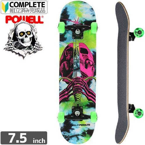 POWELL PERALTA パウエル コンプリート SKULL AND SWORD TIEDYE COMPLETE[7.5インチ]NO53