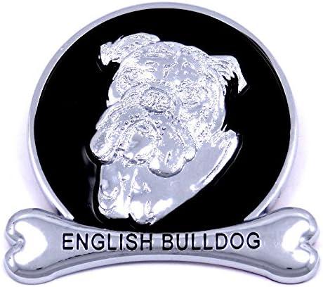 DE.SOUL Car Metal Hood Ornament Badge Emblem VIP JP Universal Fit Silver