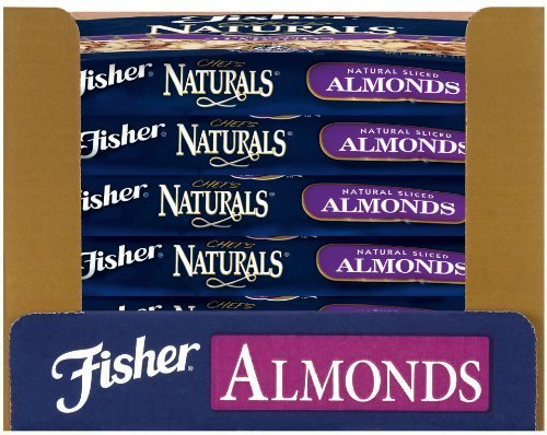 Fisher Almonds, Sliced, Natural, 25-Pound Package by Fisherscones