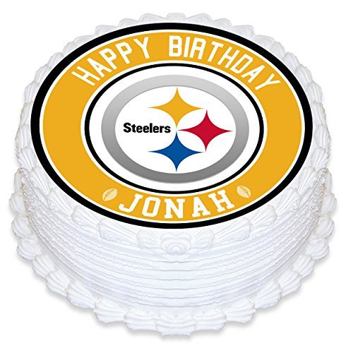 (Pittsburgh Steelers Edible Image Cake Topper Personalized Birthday 8