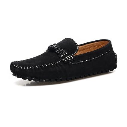 Shufang-shoes, Mocasines Planos para Hombre 2018, Mocasines Ligeros de Cuero Genuino con