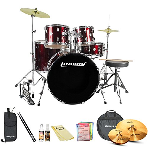 Ludwig Accent Drive 5-Pc Standard Size Drum Set with Zild...