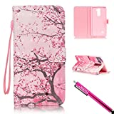 LG G Stylo 2 Case, Firefish [Kickstand] [Card/Cash Slots] [3D Print] PU Leather Wallet Flip Cover with Wrist Strap for LG Stylus 2 / LG G Stylo 2 / LG LS775