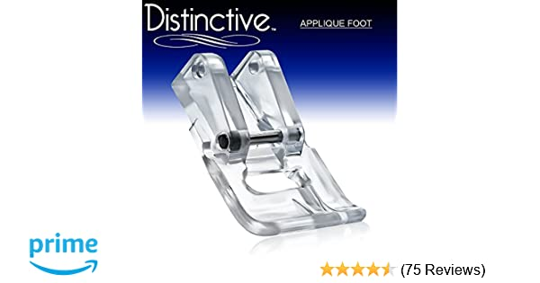 Amazon.com: distinctive applique clear sewing machine presser foot