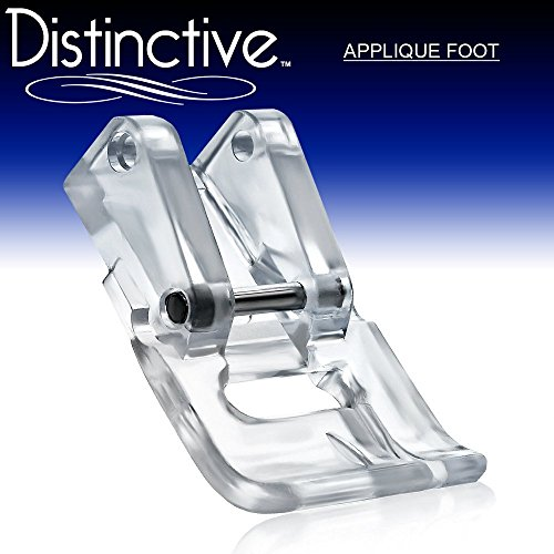 - Distinctive Applique Clear Sewing Machine Presser Foot - Fits All Low Shank Snap-On Singer, Brother, Babylock, Euro-Pro, Janome, Kenmore, White, Juki, New Home, Simplicity, Elna and More!