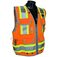 Radians SV55-2ZOD Class 2 Heavy Woven Two Tone Engineer High Visibility Vest (Large) by Radians
