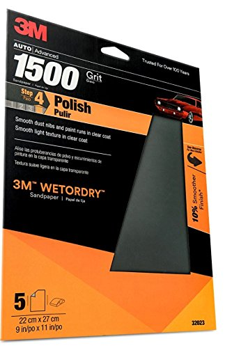 3M 32023 Imperial Wetordry 9'' x 11'' 1500 Grit Sheet by 3M