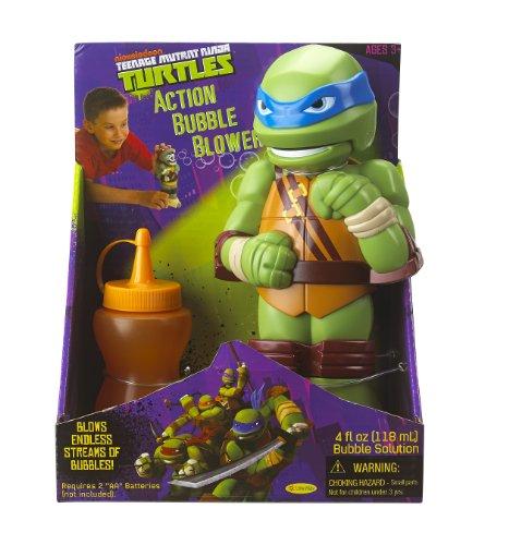Little Kids Teenage Mutant Ninja Turtles Action Bubble Blower, Leonardo (Ninja Turtle Blue)