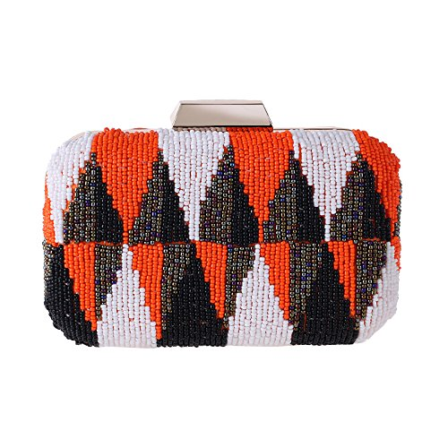 Color Europe end Bag Hit States Popular Dinner High United Women's Package Beads The Casual Orange And UHwrUP