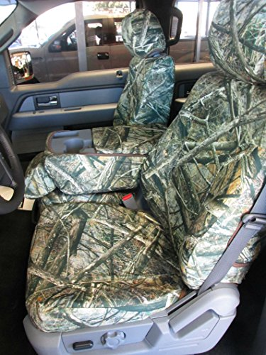20 Front Split Seat - Durafit Seat Covers F480-Camo F- Ford F250-F350-F450-F550 Front 40/20/40 Split Seat Custom Seat Covers, Opening Console Lost at Camo Endura