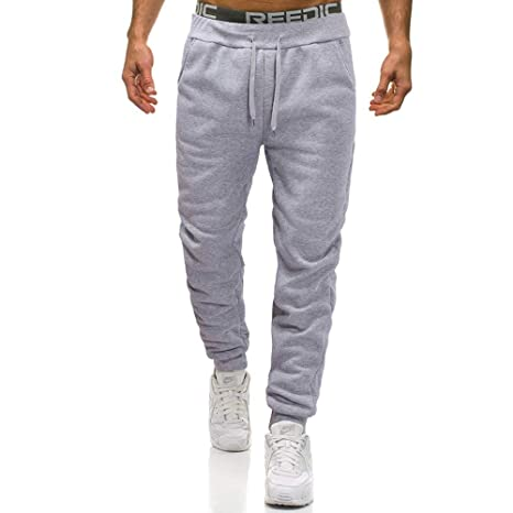 LuckyGirls Hombre Pantalón Deportivo Jogger Espesamiento Estilo Urbano Pantalones Casuales para Hombre Chándal de Hombres Recto: Amazon.es: Deportes y aire ...