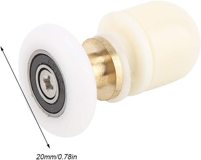 8pcs Brass ABS Shower Door Rollers Runners Pulleys Bathroom Doors Hardware for The Bathroom Glass Sliding Door 25mm