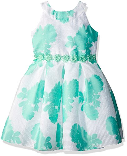 Youngland Green - Youngland Girls' Little Floral Printed Occasion Dress, Green/White 5
