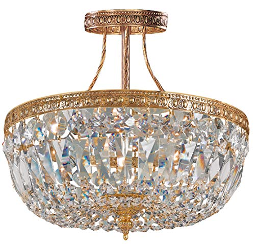 Olde World 6 Light Candle Chandelier Crystal: Swarovski Strass