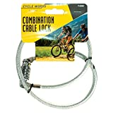 Bicycle Combination Lock 70cm x 8mm (silver/blue)