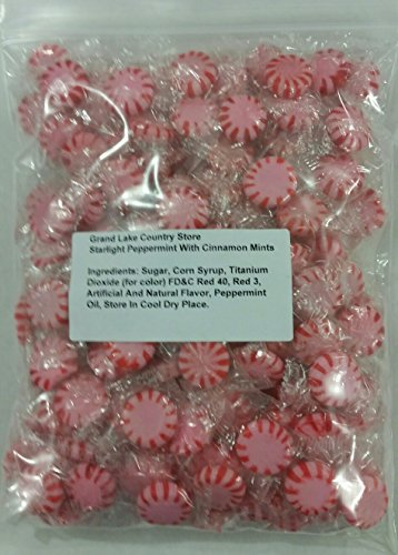 Starlight Peppermint With Cinnamon 2 Lbs Bulk Hard Candy Discs Approximately 175 Pieces ()