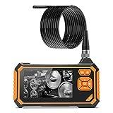 Wisamic Digital Industrial Endoscope 1080P HD Borescope Inspection Camera Waterproof Semi-Rigid Gooseneck Camera with 1.6-198 inch Focus Distance 4.3inch LCD 3M 9.8FT