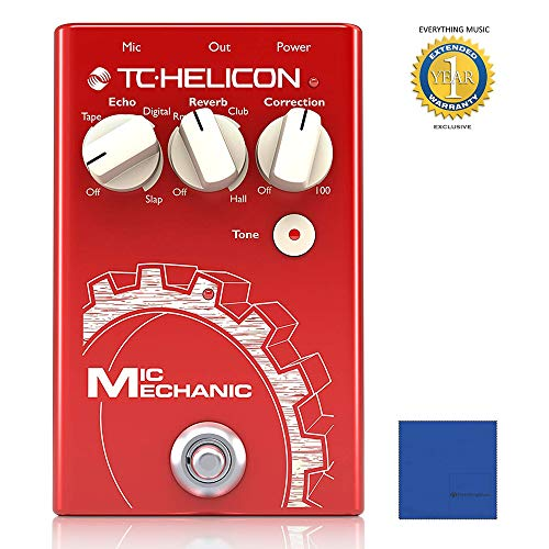 TC-Helicon Mic Mechanic 2 Vocal Effects Pedal with 1 Year EverythingMusic Extended Warranty ()