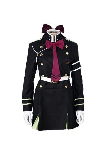 Seraph of the End Shinoa Hiragi military uniform Cosplay Costume UK