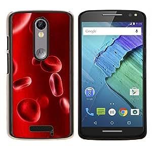 LECELL--Funda protectora / Cubierta / Piel For Motorola MOTO X3 3rd -- Glóbulos Anatomía Humana ampliada Red --