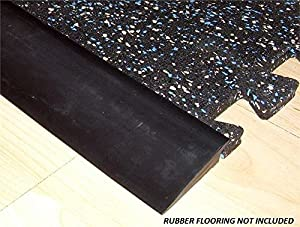 Amazon Com Rb Rubber Black Beveled Rubber Flooring Edge