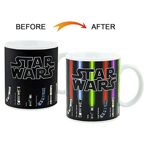 niceEshop(TM) Star Wars Mug, Lightsabers Appear With Heat, 330ml/12 Oz