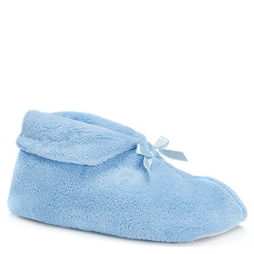 Pictures of MUK LUKS Womens Micro Chenille Slipper Bootie 15845 1