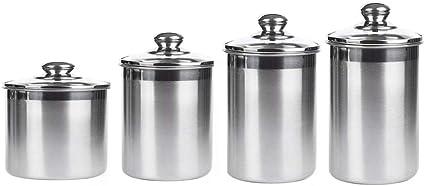 OLYCRAFT 4PCS Aufbewahrungsdose Mit Deckel Runde Luftdichte Metallvorratsdose Kleine K/üchenkanister F/ür Tee Kaffee Zuckeraufbewahrung 18 cm X 6.8 cm