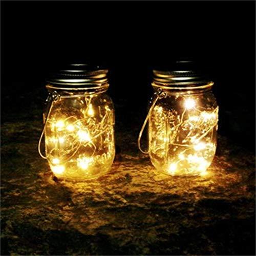 Iulove Solar Energy Wall Lamp Mason Cap Lamp LED Lights String Party Wedding Decoration 6PC