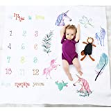 Unicorn Baby Photo Blanket Boy Girl Days Months Years Milestone Photo Shoot Backdrop Props