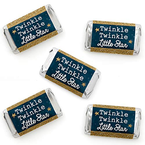 Twinkle Twinkle Little Star - Mini Candy Bar Wrapper Stickers - Baby Shower or Birthday Party Small Favors - 40 Count ()