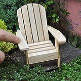 1 X Miniature Fairy Garden Adirondack Chair, Natural
