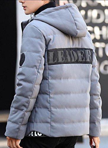 Warm Down Jackets Gery Generic Thick Winter Men's Hoodies YwzX1tq