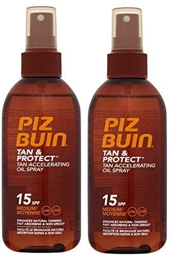 Piz Buin Tan Accelerating Oil Spray F15 (pack of 2) 150ml Johnson n Johnson