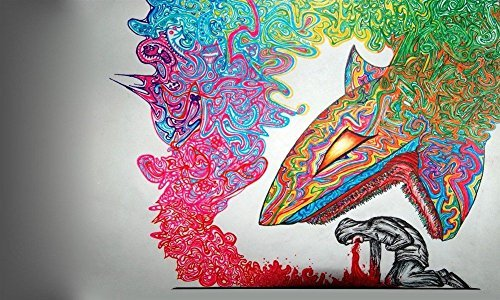 psychedelic trippy silk poster decor