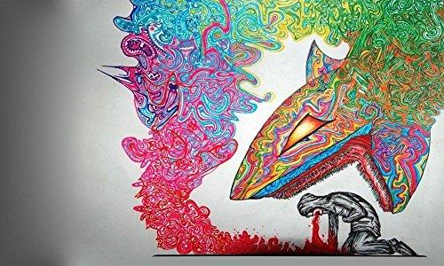 Tomorrow sunny Psychedelic Trippy Art Silk poster 40 x 24 De