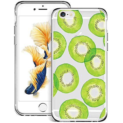 Design for Case iPhone 6s 6 Phone Case Kiwi Pattern Clear Crystal Protective Case for iPhone 6s 6