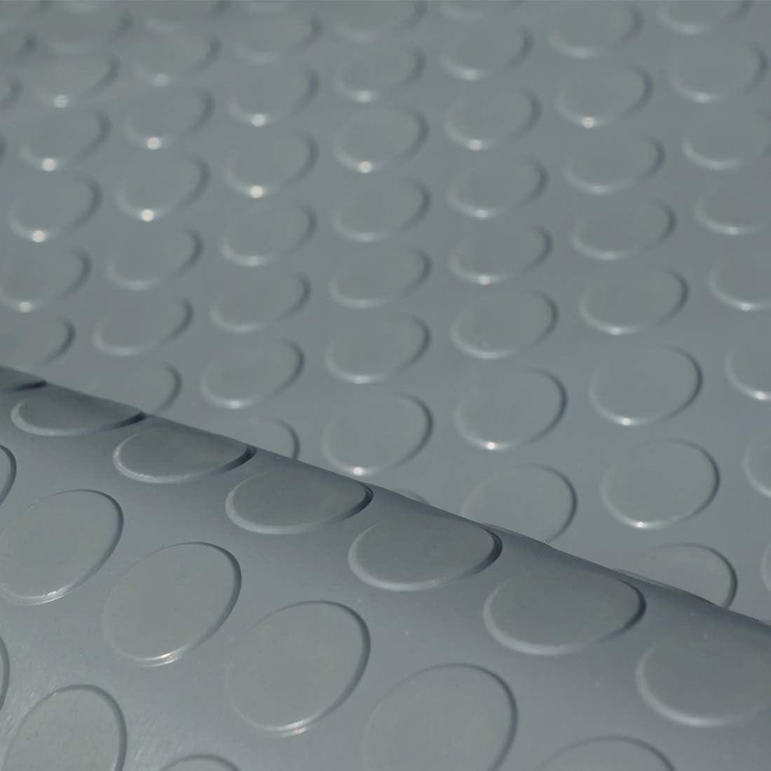 3m/² Noppenmatte 1,2 x 2,50 m St/ärke: 3mm Farbe: GRAU