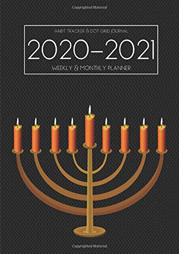 A4 Planner   2020 2021 Planner Calendar   Jewish 15 Months Daily Weekly Monthly Diary With Dot Grid Notebook And Habits Tracker  Inspirational Academic ... Vision Board Journal From Jan 2020   Mar 2021