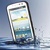 Redpepper Samsung Galaxy Note 2 N7100 / Note II LTE N7105 Waterproof Dirtproof Snowproof Shockproof Case Rugged Protection Cover (White)