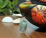 Aquamarine Gemstone Pendant Necklace - Natural
